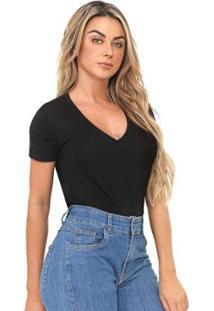 Blusa Bloom Decote V Feminina - Feminino