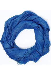 Lenço Com Brilho- Azul- 62X166Cmgregory