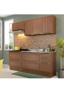 Cozinha Compacta 7 Portas 4 Gavetas 5459R Nogueira/Malt - Multimóveis