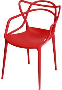 Cadeira Master Allegra Polipropileno Vermelha - 21398 - Sun House