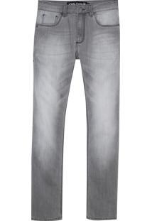 Calça John John Slim Leon Jeans Cinza Masculina (Jeans Black Claro, 48)