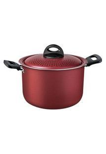 Espagueteira Em Alumínio Tramontina Antiaderente Vermelha Ø 22Cm
