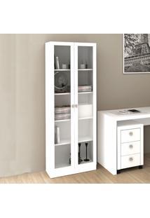 Armário Com Porta De Vidro Me4115 Branco - Tecno Mobili