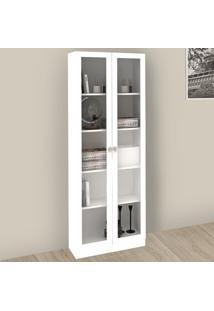 Armário Para Escritório Com Porta De Vidro Me4115 Branco - Tecno Mobili