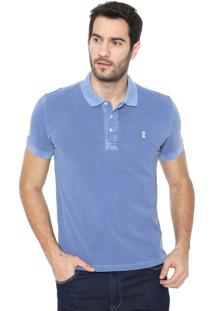 Camisa Polo Sergio K Reta Washed Azul