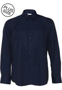 Camisa Broken Rules Botões Azul-Marinho