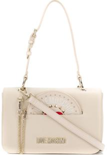 Love Moschino Pouch Slit Shoulder Handbag - Neutro