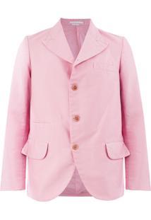 Comme Des Garçons Homme Plus Boxy-Cut Jacket - Pink & Purple