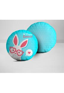 Kit 2 Almofadas Redondas O Happy Easter