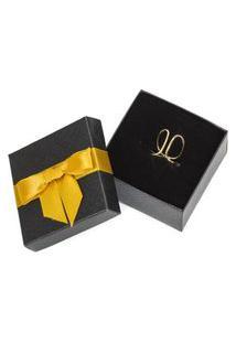 Anel Feminino Ouro 18K Regulável Banhado Marina - Dourado