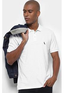 Camisa Polo Reserva Fantasia Botonê Masculina - Masculino-Branco