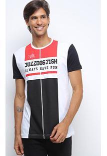 Camiseta Bulldog Fish Varsity Bulldog Masculina - Masculino-Preto
