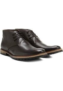 Bota Couro Cano Baixo Shoestock Tratorada Masculina - Masculino