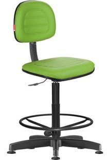 Cadeira Caixa Alta Secretária Giratória Courvin Verde Limão
