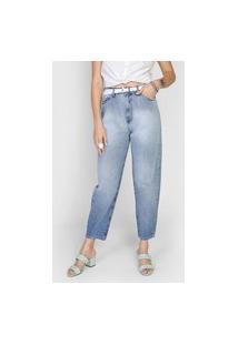 Calça Jeans Lez A Lez Mom Estonada Azul