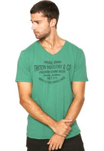 Camiseta Triton Gola V Verde