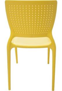 Cadeira Plástica Monobloco Safira Amarela Tramontina 92048/000