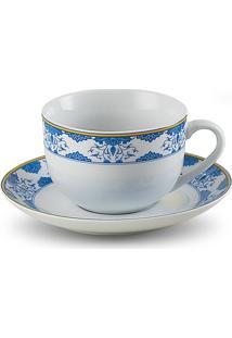 Conjunto Xícara De Chá E Píres De Porcelana 220Ml Amalfi - Unissex