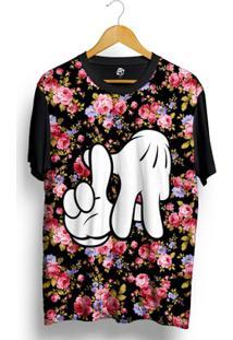 Camiseta Bsc La Hand Dark Flower Full Print - Masculino