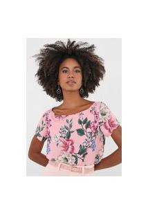 Blusa Lança Perfume Floral Rosa