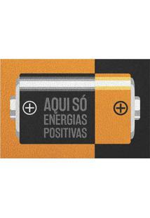Capacho Energias Positivas- Laranja & Preto- 60X40Cmkapazi