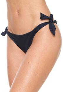 Calcinha Amber String Lisa Azul-Marinho