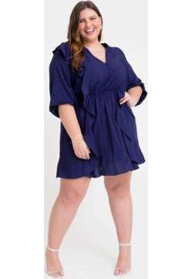 Vestido Curto Almaria Plus Size Tal Qual Babados L