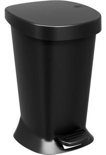 Lixeira Com Pedal- Preta- 32X20X21Cm- 5L- Brbrinox