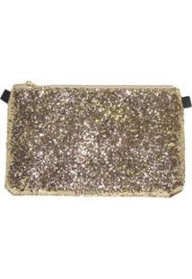 Bolsa Balada Via Luna Glitter - Feminino-Dourado
