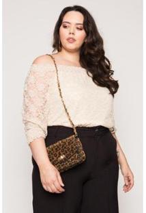 Bolsa Almaria Plus Size Salva Look Cairo Feminina - Feminino-Estampado