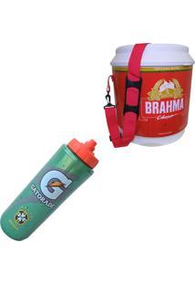 Cooler Térmico Brahma Brasil 20 Litros + Squeeze Gatorade 1 Litro Seleção Brasileira