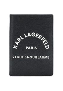 Karl Lagerfeld Carteira Rue St Guillaume - Preto
