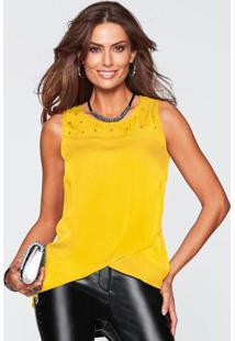 Blusa Assimétrica Amarelo