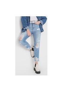 Calça Jeans Colcci Mom Bruna Azul
