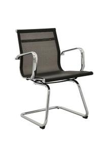 Cadeira Office Sevilha Fixa Tela Preta Rivatti