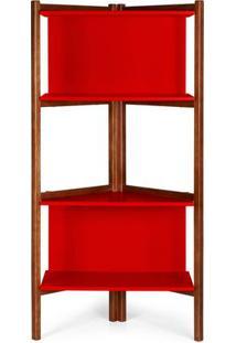 Estante Easy Cor Cacau Com Vermelho - 28990 Sun House
