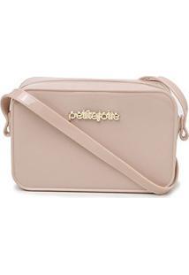 Bolsa Petite Jolie Mini Bag Pop Express Feminina - Feminino-Nude