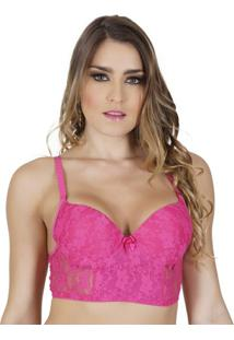 Sutiã Click Chique Básico Cropped - Feminino-Rosa