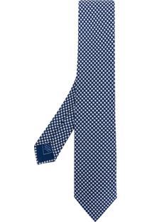 Brioni Gravata Com Poás - Azul