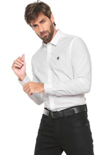 Camisa Timberland Reta Essential Branca
