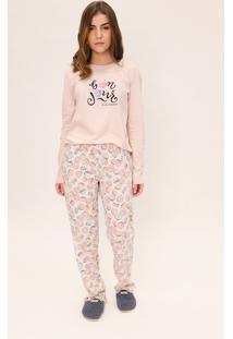 Pijama Feminino Comfort Mon Cheri Lua Luá Estampado - Tricae