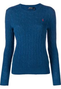 b177a9f18e ... Polo Ralph Lauren Suéter De Tricô - Azul