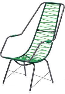 Cadeira De Fio Trançado Eletrostático Plus Verde Fabone Móveis