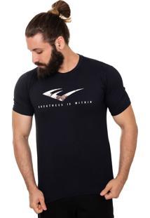 Camiseta Everlast E Textura Azul Marinho