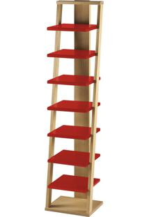 Prateleira Suspensa Stairway 1132 Palha/Vermelho - Maxima