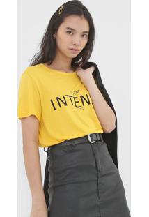 Camiseta Colcci I Am Intense Amarela