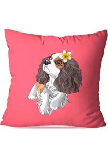 Capa De Almofada Decorativa Dog Rosa 45X45Cm