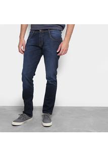Calça Jeans Skinny Biotipo Lavagem Escura Masculina - Masculino-Azul