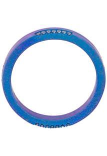 Eye M By Ileana Makri Thin Band Ring - Azul