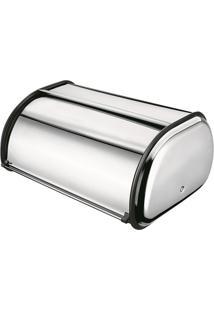 Porta Pão Grande- Inox- 27X42X18,5Cm- Euro Homeweuro Homeware